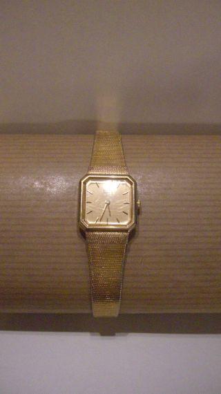 Seiko Armbanduhr Damen Edelstah Gold 8 Eckig Quartz Bild