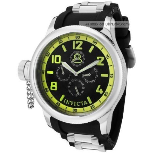 Uhr Invicta Russian Diver Kollektion 3 Verschraubte Augen Multi - Function 48mm Armbanduhren Bild