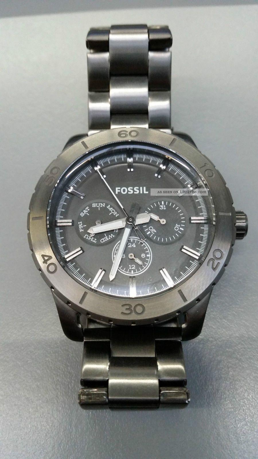 Fossil Uhren Bq 3030 1057 All Stainless Steel Bild