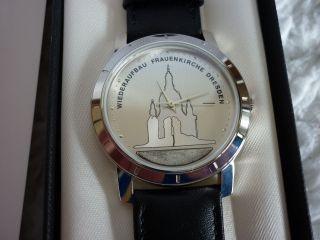 1 Dresdner Frauenkirche Uhr Armbanduhr Edt.  1999 Herren Silbern Bild