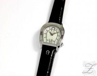 Aigner Damenuhr A30210 Perlmutt Lederarmband Schwarz Damenuhren Damen Uhr Bild
