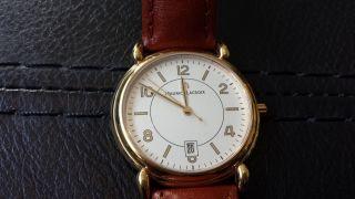 Maurice Lacroix Herrenuhr Gold Uhr Vergoldet 69810 Saphirglas Bild