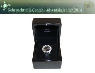 Adventskalender Mercedes - Benz Damen Armband Uhr B66043426 Schwarz Lederarmband Bild