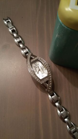 Kleine Fossil Armbanduhr Mit Strass Mit Ovp Bild