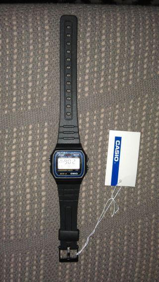 Casio Classic Retro Armbanduhr F - 91w - 1yer In Schwarz Bild