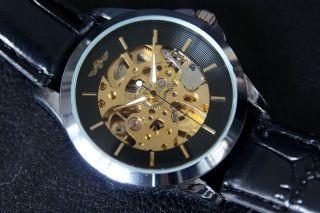 Jaragar Automatik Mechanische Uhr Herrenuhr Skelettuhr Automatikuhr Ø40,  5mm Bild