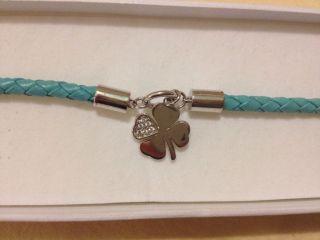 Esprit Damen Armband Leder Glücksklee Bild