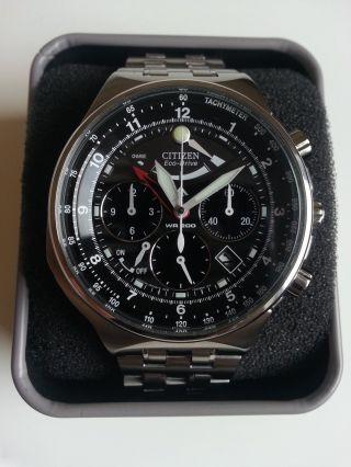 Citizen Av0030 - 60e Armbanduhr Promaster Eco - Drive Stoppuhr Alarm Bild