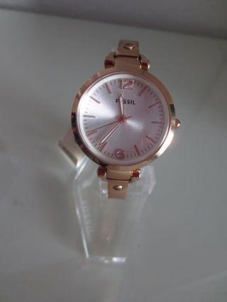 Fossil Damen Armband Uhr Es3110 Rosegold Spangenuhr Uhren Damenuhren Bild