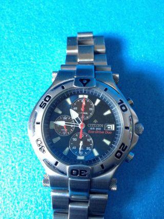 Citizen Eco Drive Duo Wr 200 H510 - H25292 Y Herren Armbanduhr Bild