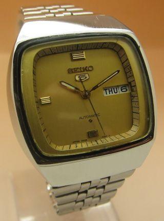 Seiko 5 Square Tv 6309 - 5210 Automatik Uhr Datum & Taganzeige Bild