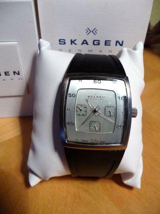 Skagen Herrenarmband Uhr 390ltr,  Titan,  Kunststoffarmband,  Mineralglas Bild