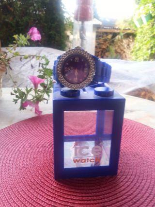 ✰ Ice Watch ✰ HammerschÖne Blaue Uhr Mit Strass ✰,  Verpackung ♥✰♥ ✰ Top ✰ Bild