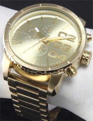 Diesel Herrenuhr Chronograph 46mm Gold Xl Armbanduhr Dz4268 Bild