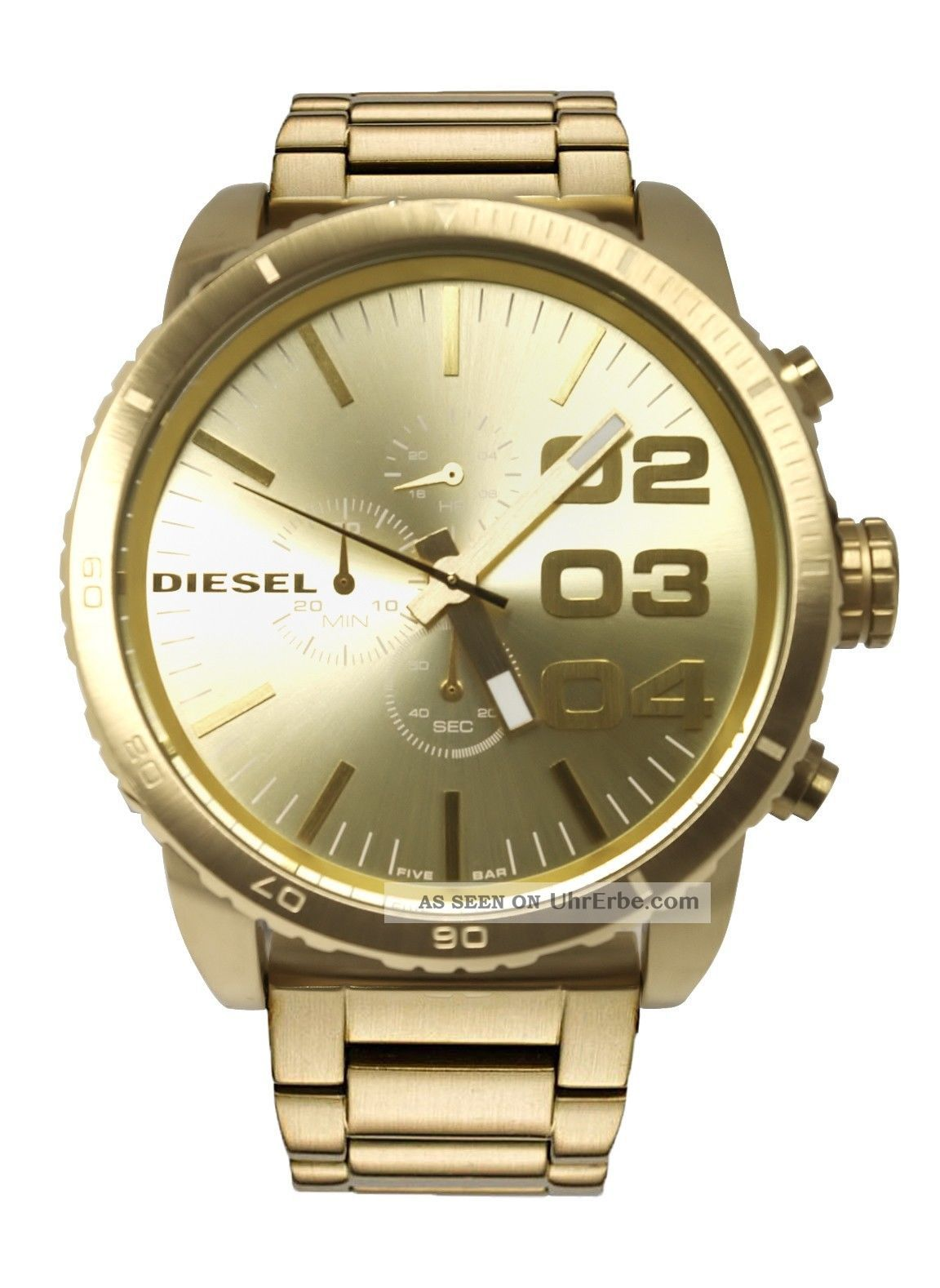 diesel herrenuhr chronograph 46mm gold xl armbanduhr dz4268. Black Bedroom Furniture Sets. Home Design Ideas