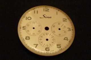 Sinn Zifferblatt Für Chronograph Bild