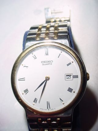 Seiko Quartz Armbanduhr 5y39 - 7a40,  Datum,  Edelstahl/gold,  Vintage Bild