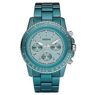 Fossil Damen - Uhren Chronograph Sport Aluminium Türkis Ch2706 Mit Bild