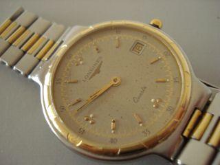 Longines Conquest Gold/stahl Swiss 4940 Quartz Unisex Au.  Datum Anzeige Um1990 Bild