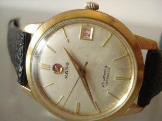 Rado Automatic Vintage Hau.  Kaliber As1581 Mit Datum Anzeige Um1950 Ansehen Bild