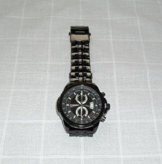 Herren Uhr Armband Pilotenuhr Curren Edelstahl Schwarz Quarz Datum Neuwertig Bild