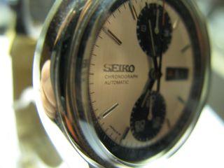 Seiko Automatic Chronograph 6138 - 8020 Panda Dial 70er Jahre Bild
