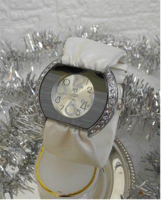 Festliche Damen Uhr Mit Soft Uhrband Und Strass - Dornschließe - X - Mas Bild