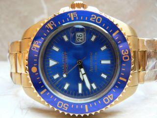 Nautec No Limit Deep Sea Gp Sunshine Blue 30atm Taucheruhr Automatik Chronograph Bild