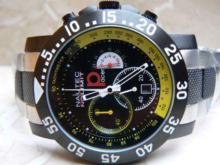 Nautec No Limit P - Racing Chronograph 10 Atm Taucheruhr Edelstahlgehäuse Uhr Bild