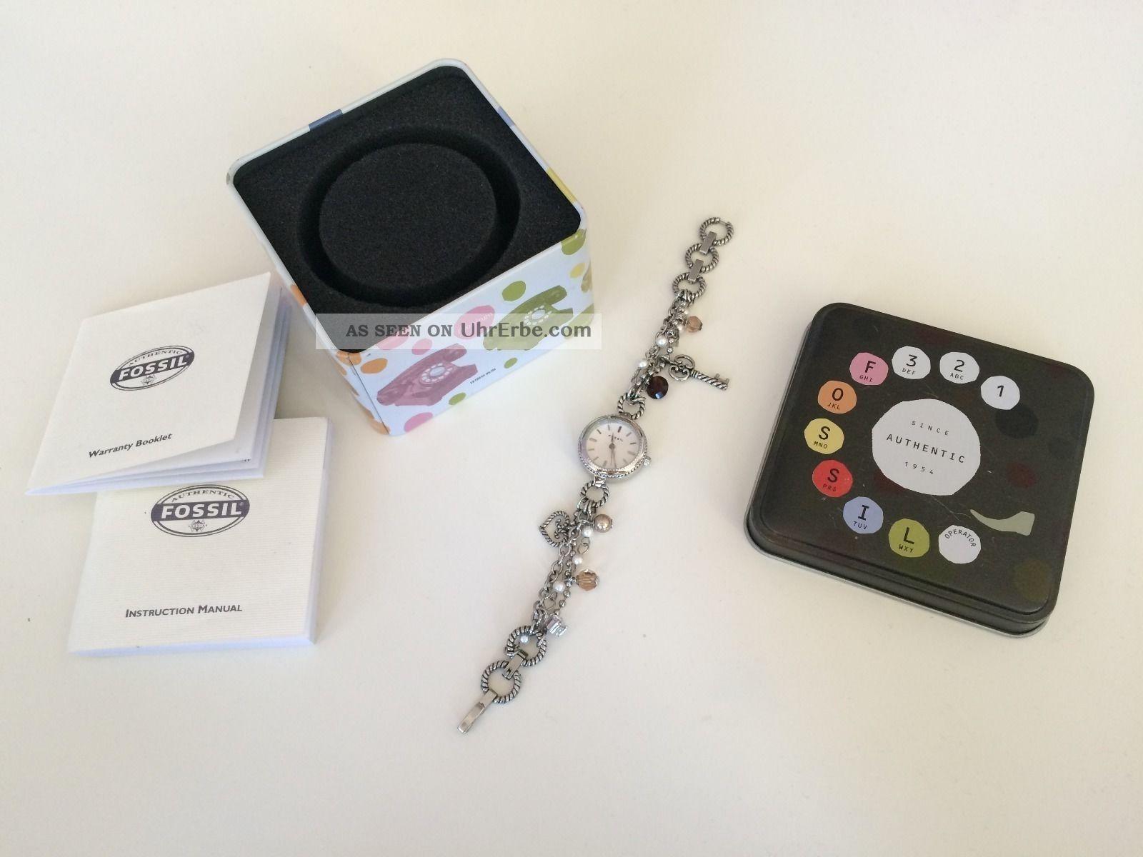 Fossil Uhren Bq 3030 Damen Uhr Es 1610 Bettelarmband Mit Bild