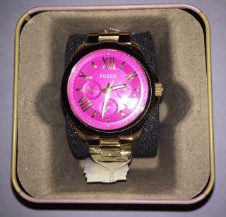 @@@ Damenuhr Chronograph Fossil Cecile Am4539 Gold/pink Neu @@@ Bild