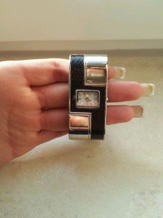 Damenuhr Armbanduhr Croques Silber Leder Schwarz Top Bild