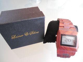 Laimer Damen Herren Holzuhr Xxl Armbanduhr Holz Digital Weihnachtsgeschenk Bild