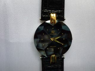 Jowissa Damenuhr Armbanduhr Quarz Festlich Edel Extra Flach Facett Lederarmband Bild