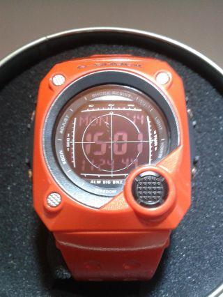 Casio G - Shock G - 8000 - 4v Mit Blinkalarm Orange Negativdisplay,  Ungetragen Bild