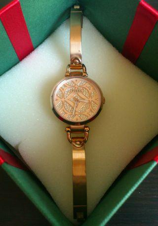 Fossil Georgia Es3422 - Armbanduhr Damen - Kristall Edelstahl - Rose Bild