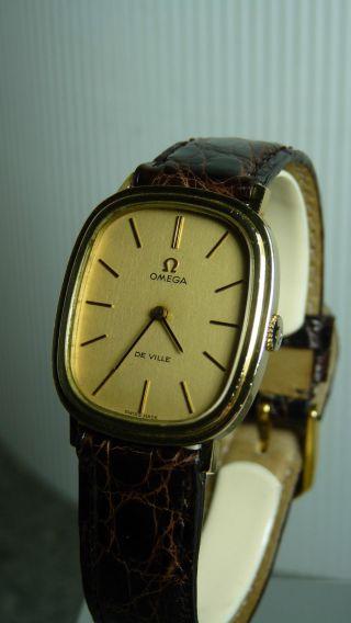 Luxus Omega De Ville 18 K Gold Plated Bild