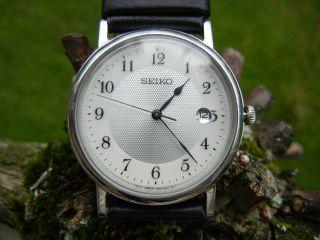 Seiko Sapphire Crystal Uhr Einfach Abzulesen,  Leder Antiallergisch - Bild