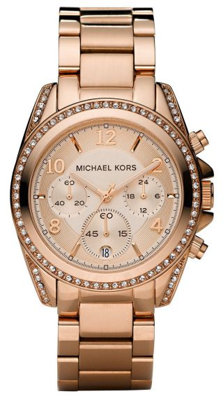 Michael Kors Mk5263 Damenuhr Armbanduhr Rosegold Ovp Bild