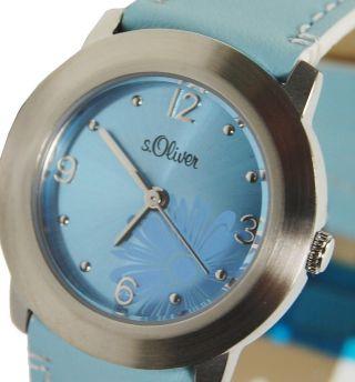 S.  Oliver Damenuhr Edelstahl 3 Atm Wasserdicht Baby Blau Armbanduhr S Oliver Bild