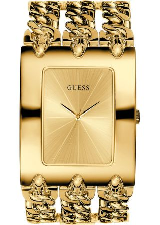 Guess Damenuhr Heavy Metal Gold Bild