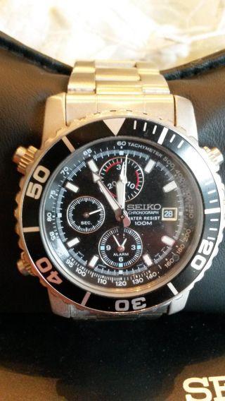 Seiko Sna225p1 Armbanduhr Chrono - Alarm Bild