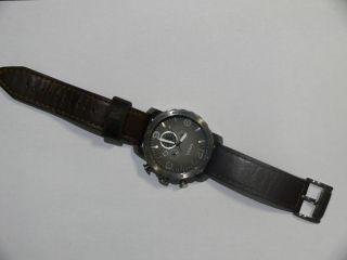 Herrenuhr Chronograph Fossil Nate (jr1424),  Lederband,  Braun Bild