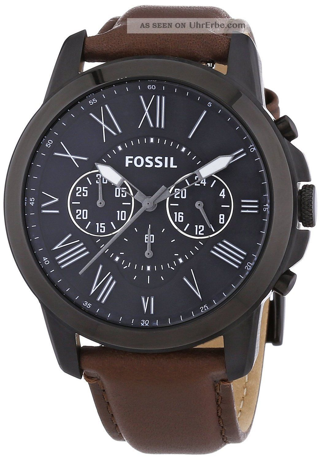 fossil herren armbanduhr xl chronograph quarz leder fs4885. Black Bedroom Furniture Sets. Home Design Ideas