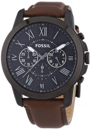 Fossil Herren - Armbanduhr Xl Chronograph Quarz Leder Fs4885 Bild