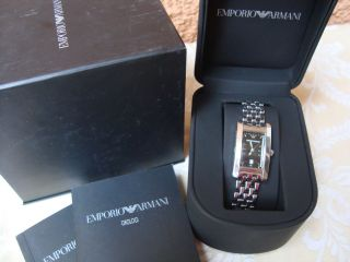 Giorgio Emporio Armani Damen Armbanduhr Uhr Silber Bild