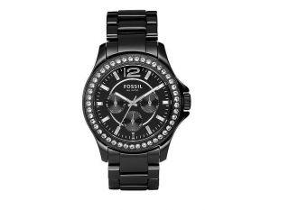 Fossil Uhr - Ce1011 Armbanduhr Schwarz Keramik Damenuhr Zirkonia - Bild