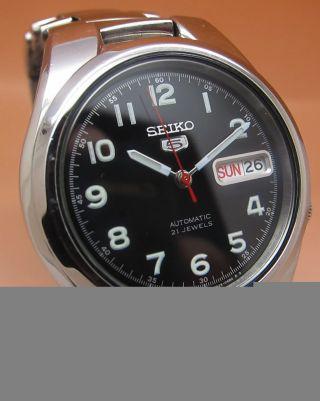 Seiko 5 Durchsichtig Automatik Uhr 7s26 - 02f0 21 Jewels Datum & Tag Bild