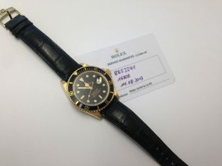Rolex Submariner Ref,  16808 Gold Leder Band Service Bild