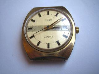 Frühe Vintage Watch Timex Electric Armbanduhr Bild